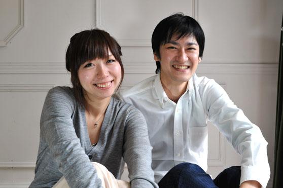 笑顔のカップル