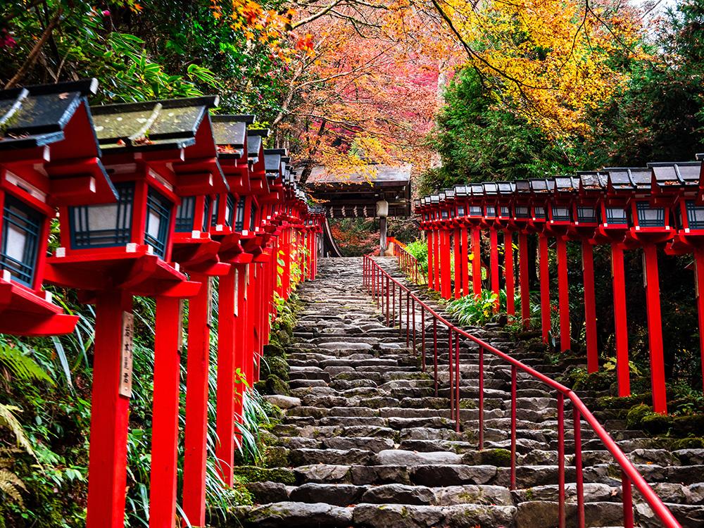 関西で人気の縁結び神社、とある神社の景色