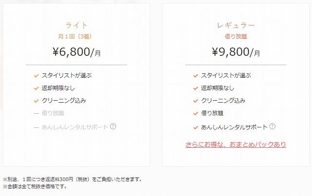 エアークローゼットの価格